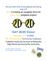 Eyeglass Drive for Lions Club Eyeglass Project