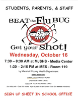 Beat the Flu Bug-Get Your Shot!