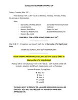 School and Summer Food Pickup Information